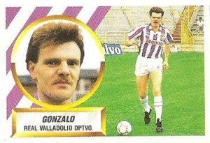 Liga 88-89. Gonzalo (Real Valladolid). Ediciones Este.