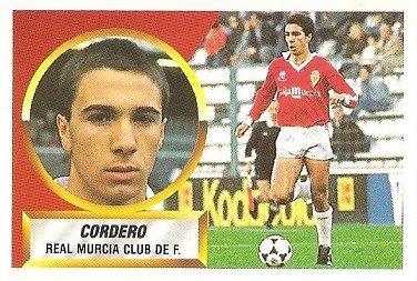 Liga 88-89. Cordero (Real Murcia). Ediciones Este.