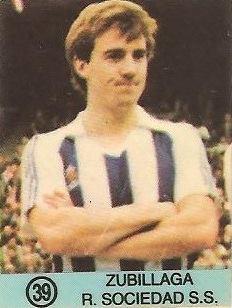 1983-84 Super Campeones. Zubillaga (Real Sociedad). (Ediciones Gol).