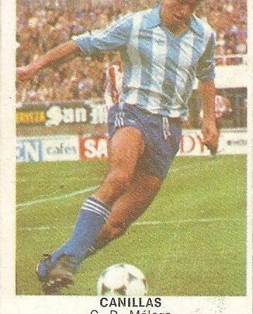 Fútbol 84. Canillas (C.D. Málaga). Cromos Cano.