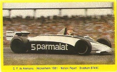 Grand Prix Ford 1982. Nelson Piquet (Brabham). (Editorial Danone).