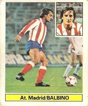 Liga 81-82. Balbino (Atlético de Madrid). Ediciones Este.