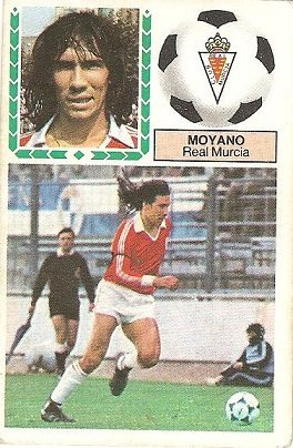 Liga 83-84. Moyano (Real Murcia). Ediciones Este.