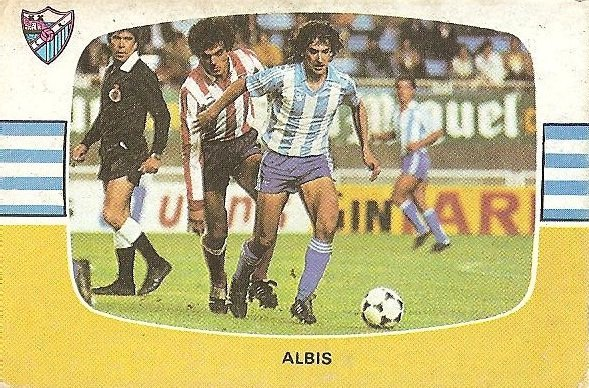 Liga 84-85. Albis (C.D. Málaga). Cromos Cano.