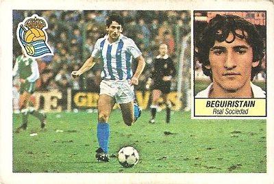 Liga 84-85. Beguiristain (Real Sociedad). Ediciones Este.