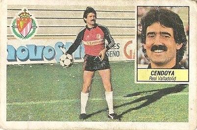 Liga 84-85. Cendoya (Real Valladolid). Ediciones Este.