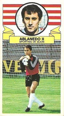 Liga 85-86. Ablanedo II (Real Sporting de Gijón). Ediciones Este.