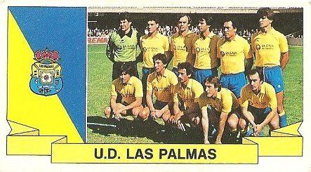 Liga 85-86. Alineación U.D. Las Palmas (U.D. Las Palmas). Ediciones Este.
