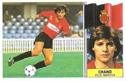 Liga 86-87. Chano (R.C.D. Mallorca). Ediciones Este.