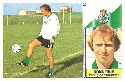 Liga 86-87. Donnerup (Racing de Santander). Ediciones Este.