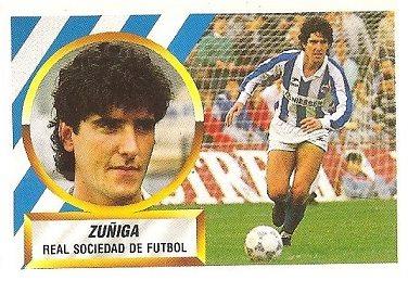 Liga 88-89. Zuñiga (Real Sociedad). Ediciones Este.