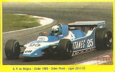 Grand Prix Ford 1982. Didier Pironi (Ligier). (Editorial Danone).