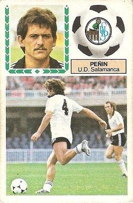 Liga 83-84. Peñín (U.D. Salamanca). Ediciones Este.
