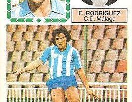 Liga 83-84. Fernando Rodríguez (C.D. Málaga). Ediciones Este.