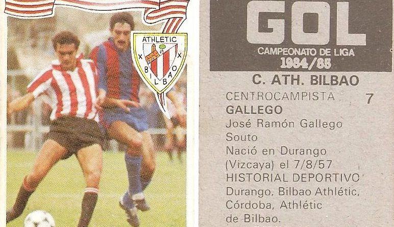 Gol. Campeonato de Liga 1984-85. Gallego (Ath. Bilbao). Editorial Maga