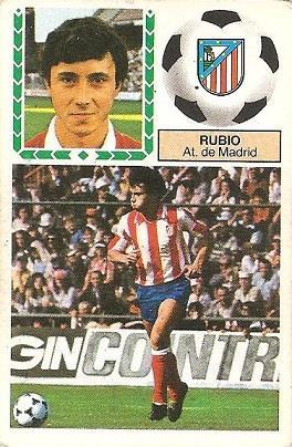 Liga 83-84. Rubio (Atlético de Madrid). Ediciones Este.