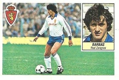 Liga 84-85. Barbas (Real Zaragoza). Ediciones Este.