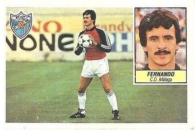 Liga 84-85. Fernando (C.D. Málaga). Ediciones Este.