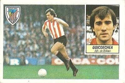 Liga 84-85. Goicoechea (Ath. Bilbao). Ediciones Este.