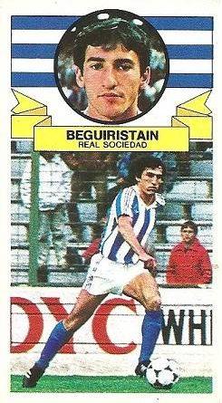 Liga 85-86. Beguiristain (Real Sociedad). Ediciones Este.