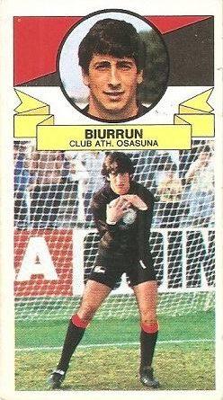 Liga 85-86. Biurrun (C.A. Osasuna). Ediciones Este.