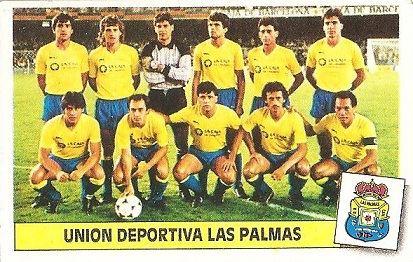 Liga 86-87. Alineación U.D. Las Palmas (U.D. Las Palmas). Ediciones Este.