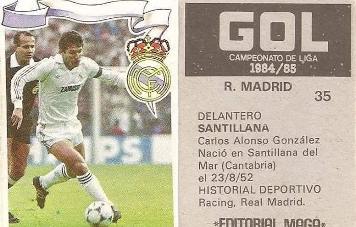 Gol. Campeonato de Liga 1984-85. Santillana (Real Madrid). Editorial Maga.
