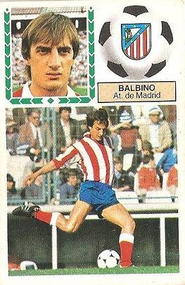 Liga 83-84. Balbino (Atlético de Madrid). Ediciones Este.