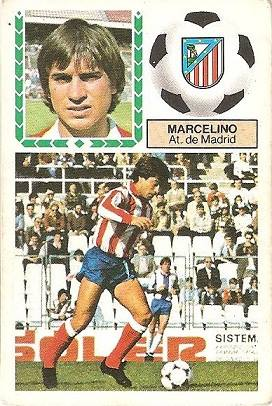 Liga 83-84. Marcelino (Atlético de Madrid). Ediciones Este.