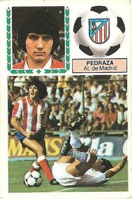 Liga 83-84. Pedraza (Atlético de Madrid). Ediciones Este.