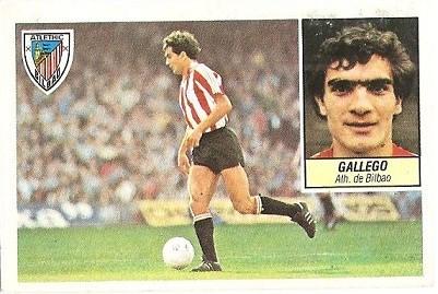 Liga 84-85. Gallego (Ath. Bilbao). Ediciones Este.