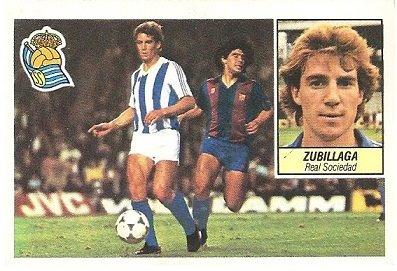 Liga 84-85. Zubillaga (Real Sociedad). Ediciones Este.