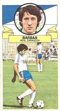 Liga 85-86. Barbas (Real Zaragoza). Ediciones Este.