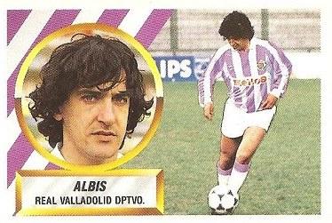 Liga 88-89. Albis (Real Valladolid). Ediciones Este.