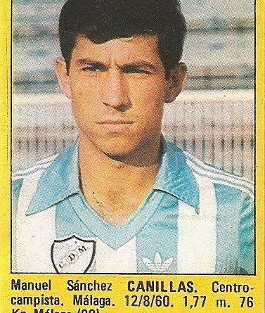 Super Fútbol 85. Canillas (C.D. Málaga). Super Cromos Rollán.