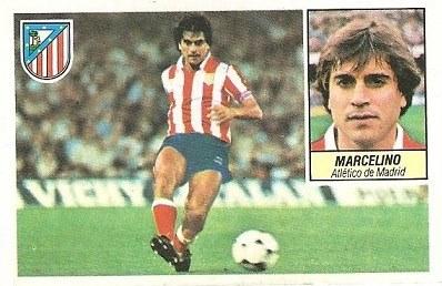 Liga 84-85. Marcelino (Atlético de Madrid). Ediciones Este.