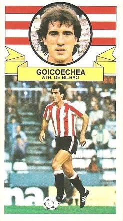 Liga 85-86. Goicoechea (Ath. Bilbao). Ediciones Este.