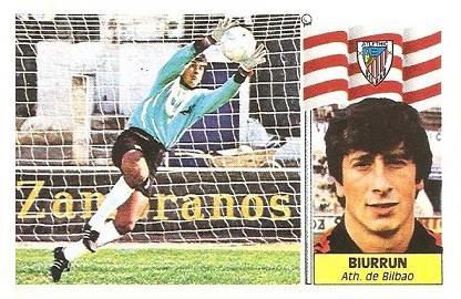 Liga 86-87. Biurrun (Ath. Bilbao). Ediciones Este.