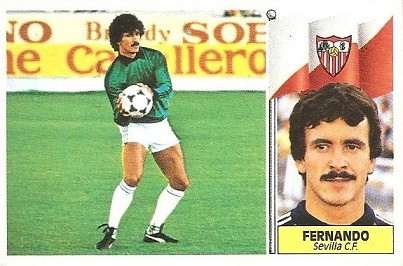 Liga 86-87. Fernando (Sevilla C.F.). Ediciones Este.
