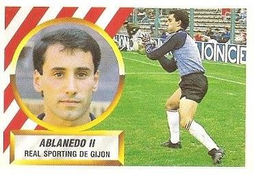 Liga 88-89. Ablanedo II (Real Sporting de Gijón). Ediciones Este.