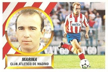 Liga 88-89. Marina (Atlético de Madrid). Ediciones Este.