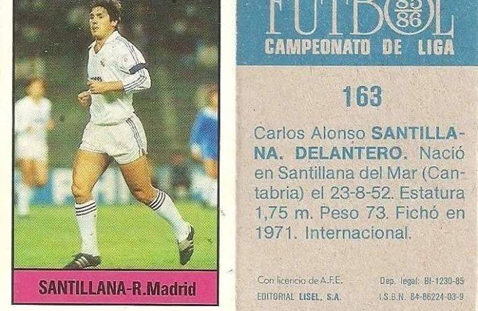 Fútbol 85-86. Campeonato de Liga. Santillana (Real Madrid). Editorial Lisel.