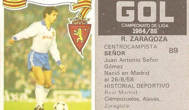 Gol. Campeonato de Liga 1984-85. Señor (Real Zaragoza). Editorial Maga.