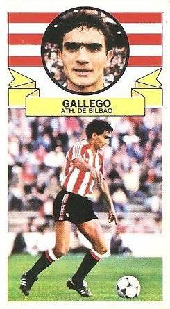Liga 85-86. Gallego (Ath. Bilbao). Ediciones Este.