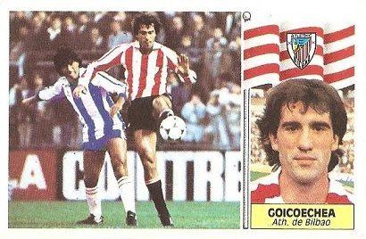 Liga 86-87. Goicoechea (Ath. Bilbao). Ediciones Este.