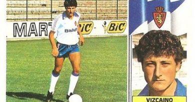 Liga 86-87. Vizcaino (Real Zaragoza). Ediciones Este.