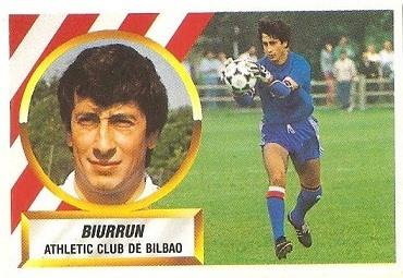 Liga 88-89. Biurrun (Ath. Bilbao). Ediciones Este.