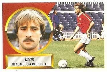 Liga 88-89. Fichaje Nº 31 Clos (Real Murcia). Ediciones Este.
