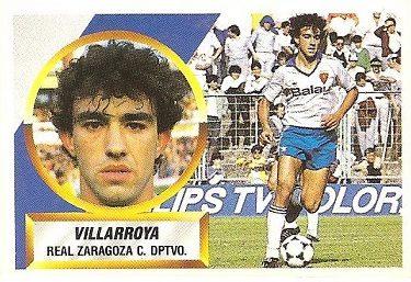 Liga 88-89. Villarroya (Real Zaragoza). Ediciones Este.