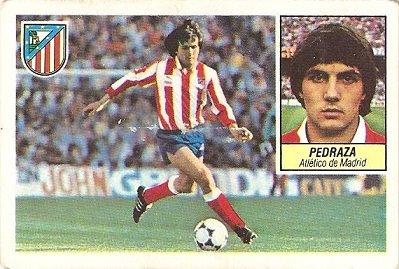 Liga 84-85. Pedraza (Atlético de Madrid). Ediciones Este.